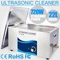 Ультразвуковой очиститель 720 Вт Преобразователь мощности 22л из нержавеющей стали для ванны 110В 220В Ультразвуковой очиститель регулируемые ...