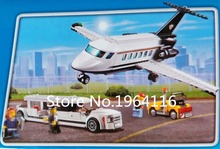 New 02044 city series The Airport VIP Service Model Building Blocks set Compatible 60102 Classic private plane Toys for children