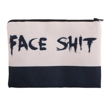 Face Shit 3D Printing square cosmetic bag 2016 Fashion New pouch necessaire toiletry bag organizer maleta de maquiagem bags