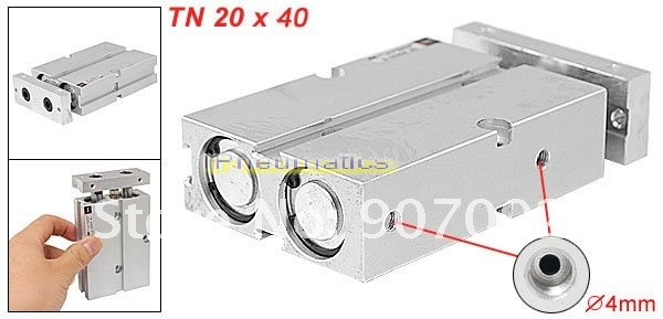 Free Shipping 20 x 40mm Bore TN Twin Rod Double Acting Pneumatic Air Cylinder Thin bohemia ivele crystal подвесная люстра bohemia ivele crystal 1406 10 195 ni
