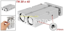 Free Shipping 20 x 40mm Bore TN Twin Rod Double Acting Pneumatic Air Cylinder Thin