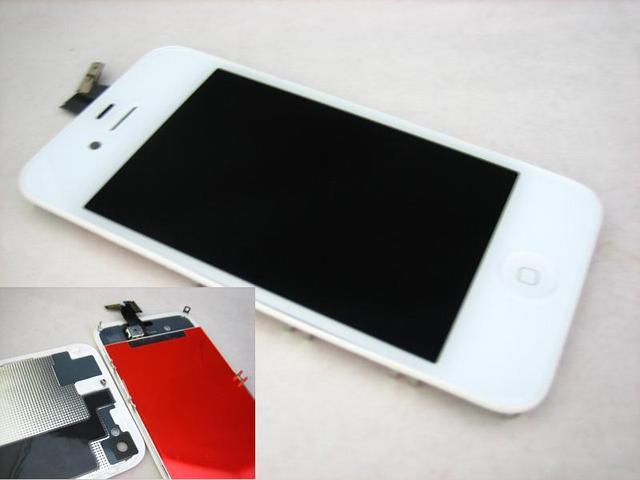 Белый Замена Полный Передняя ЖК-Дисплей с Сенсорным Экраном + Задняя Крышка Для Apple iPhone 4S 4GS