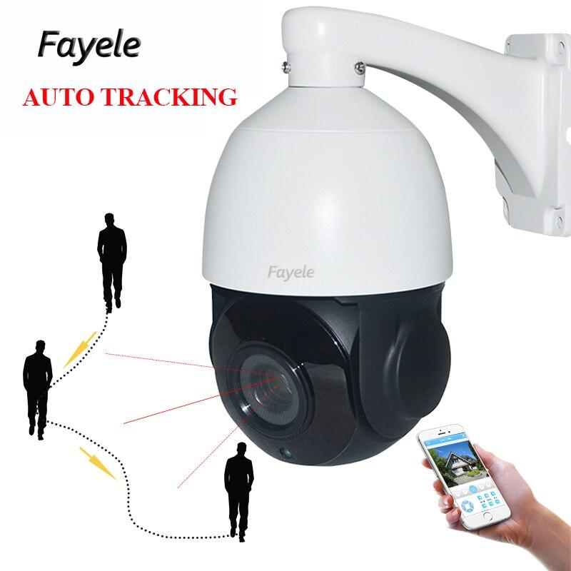 Di sicurezza Della Cupola di Velocità Auto tracking IP PTZ Telecamera di Rete 1080 p Auto tracker 20X zoom Ottico P2P mobile view XMeye ONVIF IR 80 m