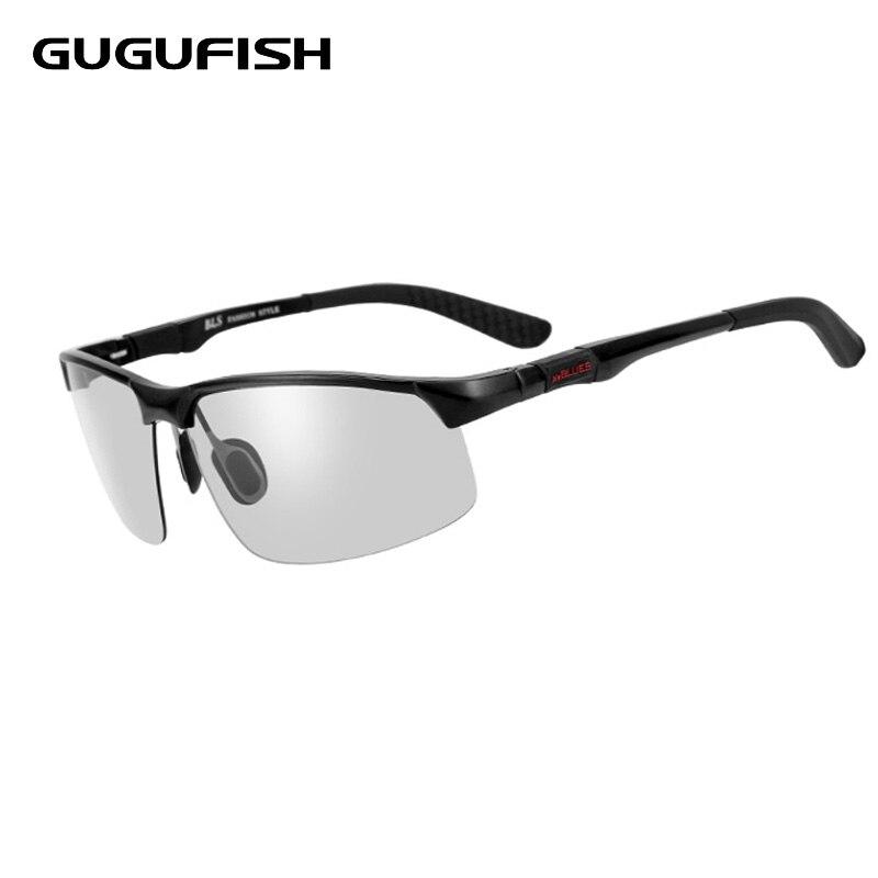 3556081318bea GUGUFISH Two-color glasses Aluminum magnesium polarized sunglasses male Fishing  glasses leisure polarized fishing eyewear