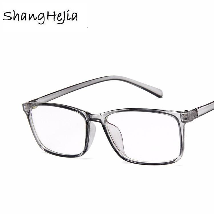 2018 Mode Frauen Gläser Rahmen Männer Transparent Brillen Rahmen Vintage Platz Klare Linse Gläser Optische Spektakel Rahmen Um Das KöRpergewicht Zu Reduzieren Und Das Leben Zu VerläNgern