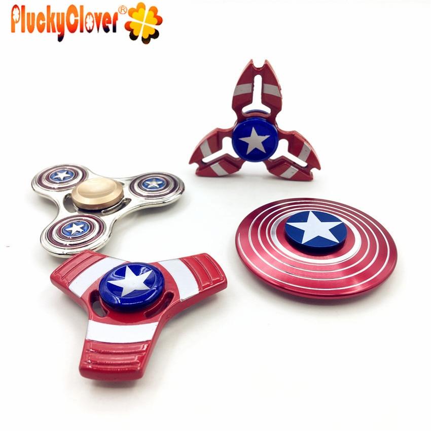 Rainbow Fidget Spinner in metallo multi-colore Spinner le tendenze su stili di migliori