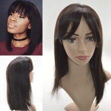 7A Peruvian virgin hair lace front wigs short bob human hair full lace human hair wigs for black women U part wig