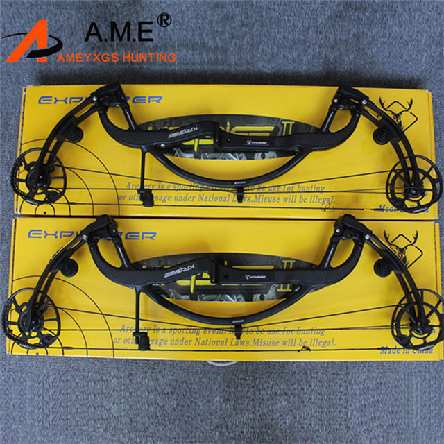 1 Set Compound Bow Set Carbon Fiber Compound Bow Archery Take down Right hand Archery Hunting Bow Bow Riser 19-70lbs