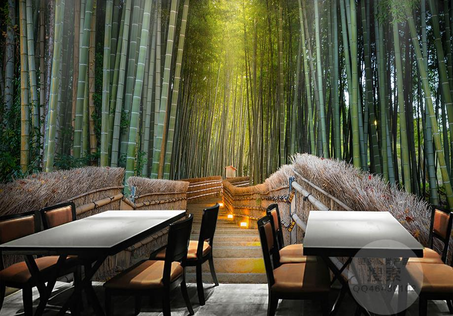 Popular bamboo forest wallpaper buy cheap bamboo forest for Kitchen wallpaper 3d