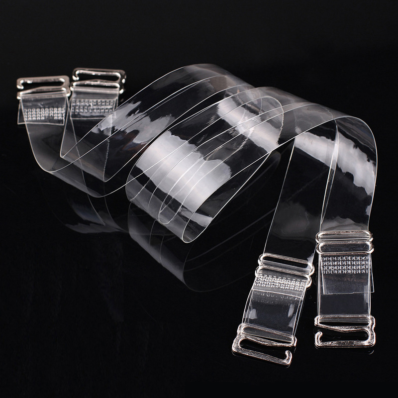 2Pairs=4Pcs Metal Buckle Bra Straps Belt Women's Elastic Transparent Silicone Bra Straps Adjustable Baldric Accessories 2019