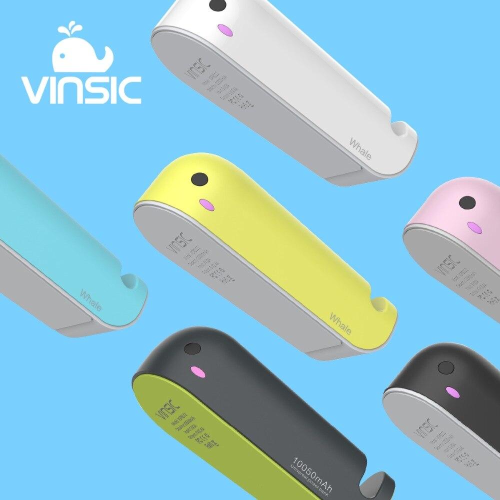 imágenes para Vinsic 10050 mAh Cargador de Batería Externo de la Ballena de la Historieta 5 V/2.4A Power Bank con Soporte para Teléfono para iPhone Samsung Galaxy S7 Xiaomi