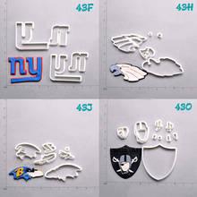 National Football Team Logo Design Cake Cutter Set Custom Made 3D Printed Fondant Tools