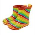 Бесплатная доставка детские Сапоги Дождь милый мультфильм Мальчики и Девочки скольжения Детская обувь, галоши водную обувь для Детей Резиновая Обувь