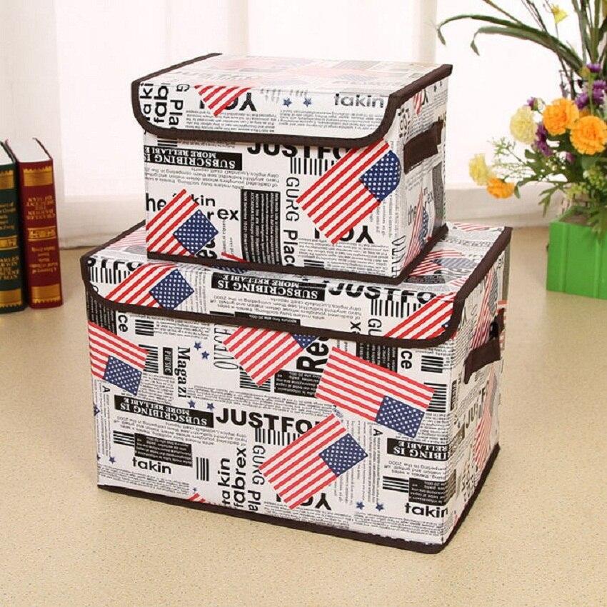 Pliable Stockage de linge De coton boîtes Pour Cravates Chaussettes Shorts Soutien-Gorge Sous-Vêtements Organisateur Divers Cabinet Placard De Rangement Organizador