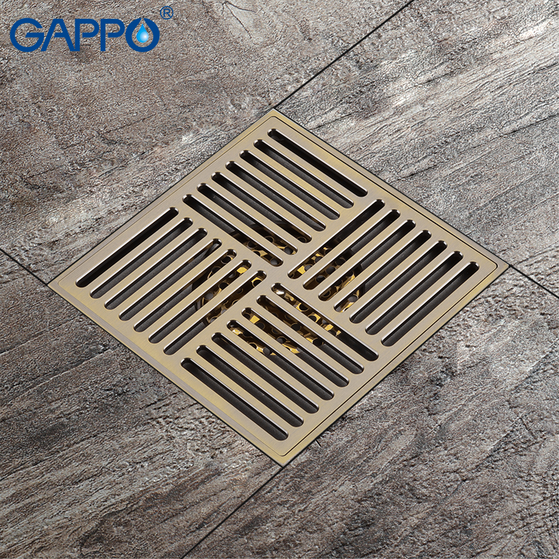 GAPPO Drains Antique Brass waste stoppers anti odor floor ...
