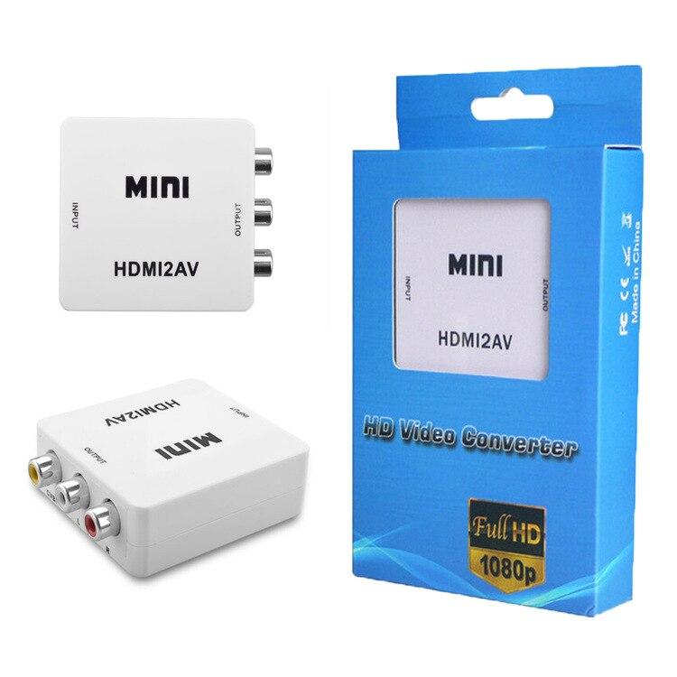 10 PCS For HDTV Mini Composite 1080P HDMI to RCA Audio Video AV CVBS Adapter Converter