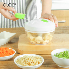 OLOEY Kitchen Hand-Mixed Meat Grinder Manual Vegetable Cutter Household Garlic Grinders Slicer Multi-Function Filling Tools