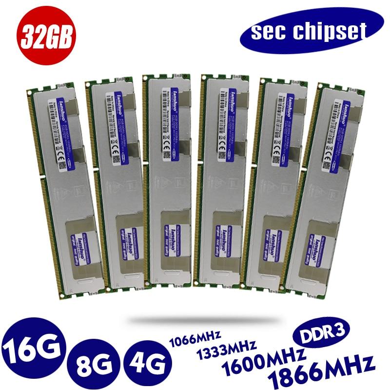 Original 4GB DDR3 1333MHz 1600Mhz 1866Mhz 4G 1333 1600 1866 Radiator REG ECC Server Memory 8G 16G 8GB 16GB RAM  X79 X58 LGA 2011