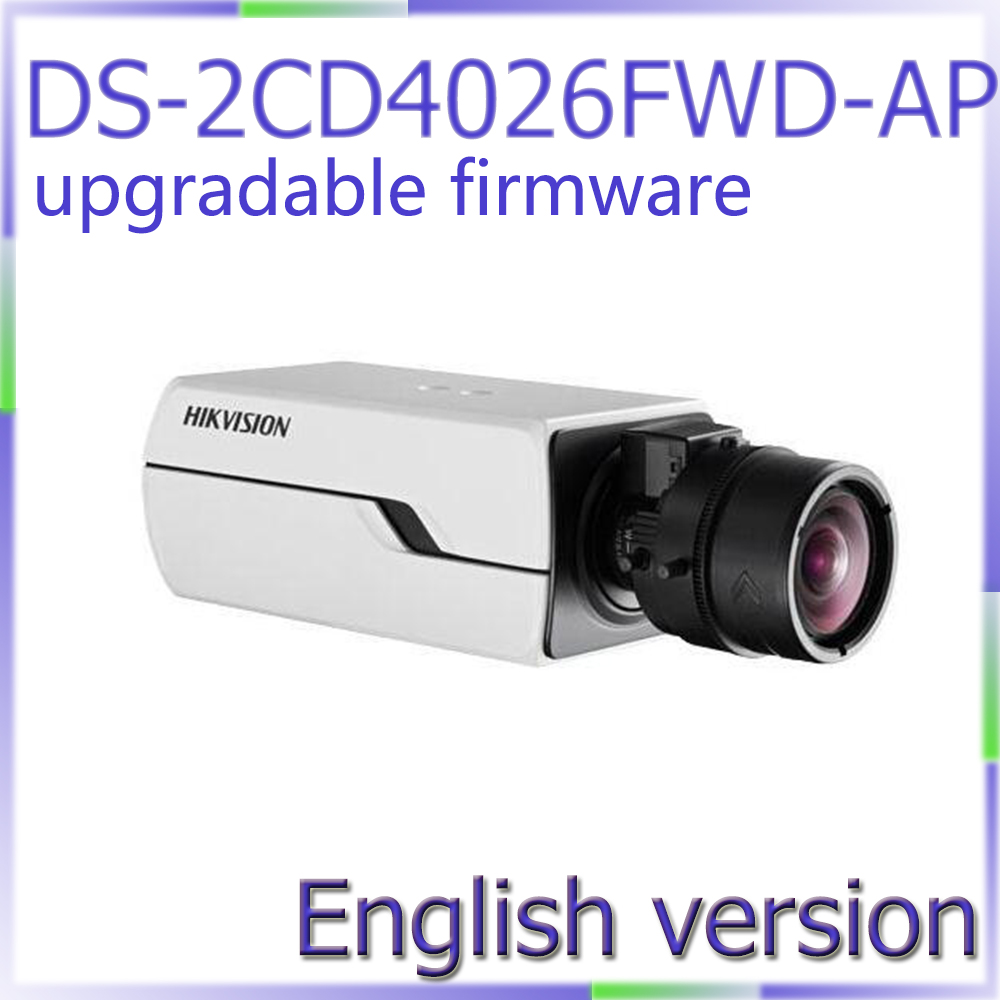 free shipping DS-2CD4026FWD-AP English Version 2MP Full HD1080p video Low Light Smart Camera,with Auto Back Focus and P-Iris двигатель змз 4026 10