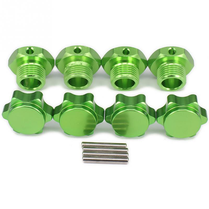4Pcs Aluminum Alloy Cover For 1/8 RC Adapter Hex Hubs Car Nut Pin Wheel Adapter Anti-Dust 17mm