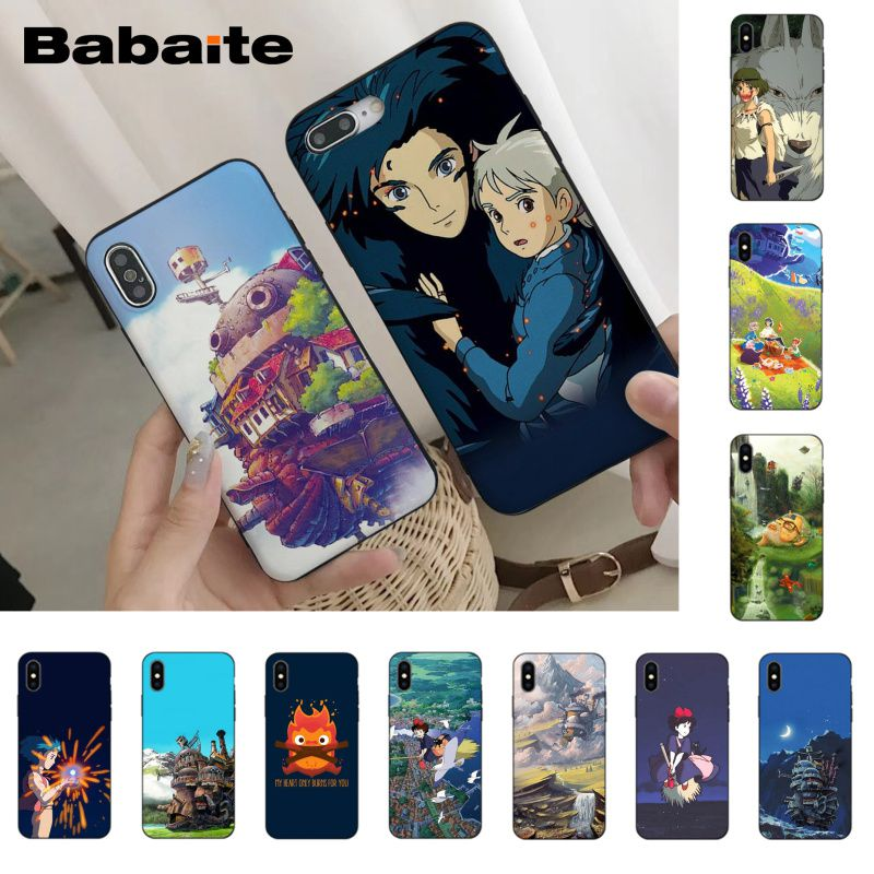 Babaite Howl's Howls Moving Hot <font><b>PhoneCase</b></font> for <font><b>iPhone</b></font> X Xs Xr XsMax 6 6s Plus 7 <font><b>7plus</b></font> 8 8plus 5s 5c SE11 11pro 11promax image