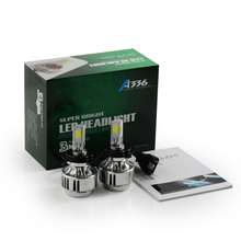 Led H4 72 W CAR Lamp faro H4 doble haz alta baja hi / lo niebla de la lámpara 6600 LM 6000 K cabeza lámparas blanco 6000 K para el coche luz