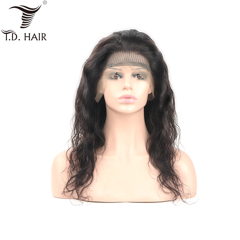 TD Lace Frontal Body Wave Wig With Baby Hair Swiss Transparent Lace Peruvian Wigs Remy Natural Human Hair 130% 150% 180% Wig