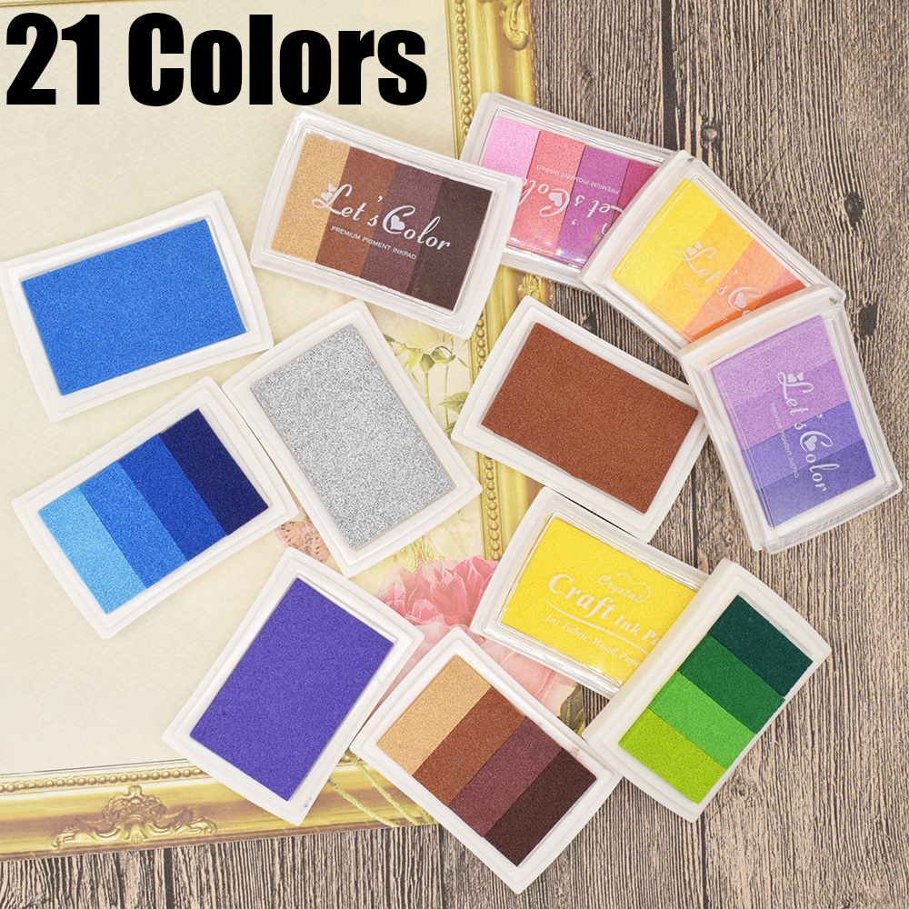 Child Craft Oil Based DIY Ink Pad for Rubber Stamps Fabric Wood Paper Inkpad、Fad
