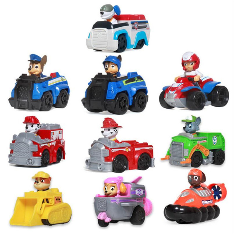 Paw Patrol Dog Puppy Patrol Car Anime Toys Patrulla Canina Action Figure Model Children Gifts