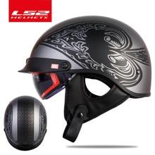 Original LS2 OF526 vintage Motorcycle Helmet with sunshield men open face retro