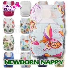 [Littles & Bloomz] Моющиеся Многоразовые Тканевые карманные подгузники одного размера для преждевременных и новорожденных, настоящие тканевые кар...