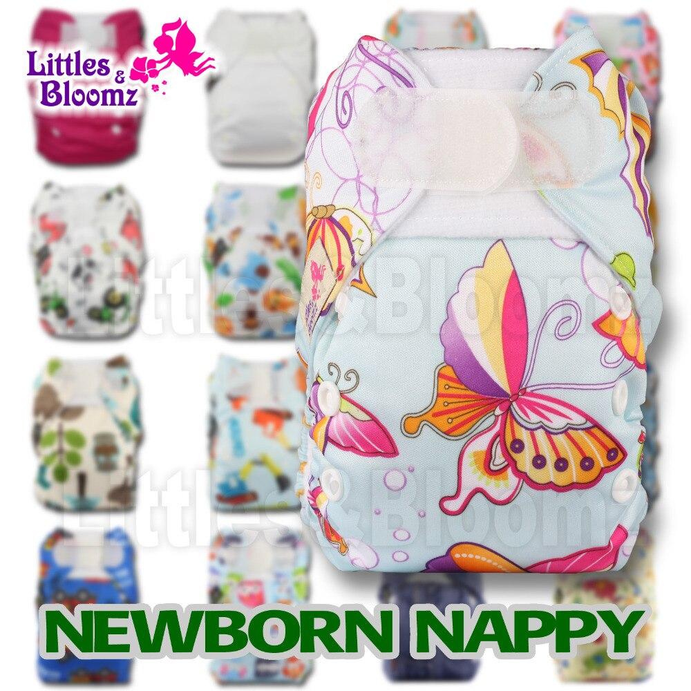 Тканевый карман для подгузников [Littles & blumz], моющийся многоразовый подгузник одного размера для новорожденных, настоящий тканевый Карманный чехол, вкладыши для подгузников