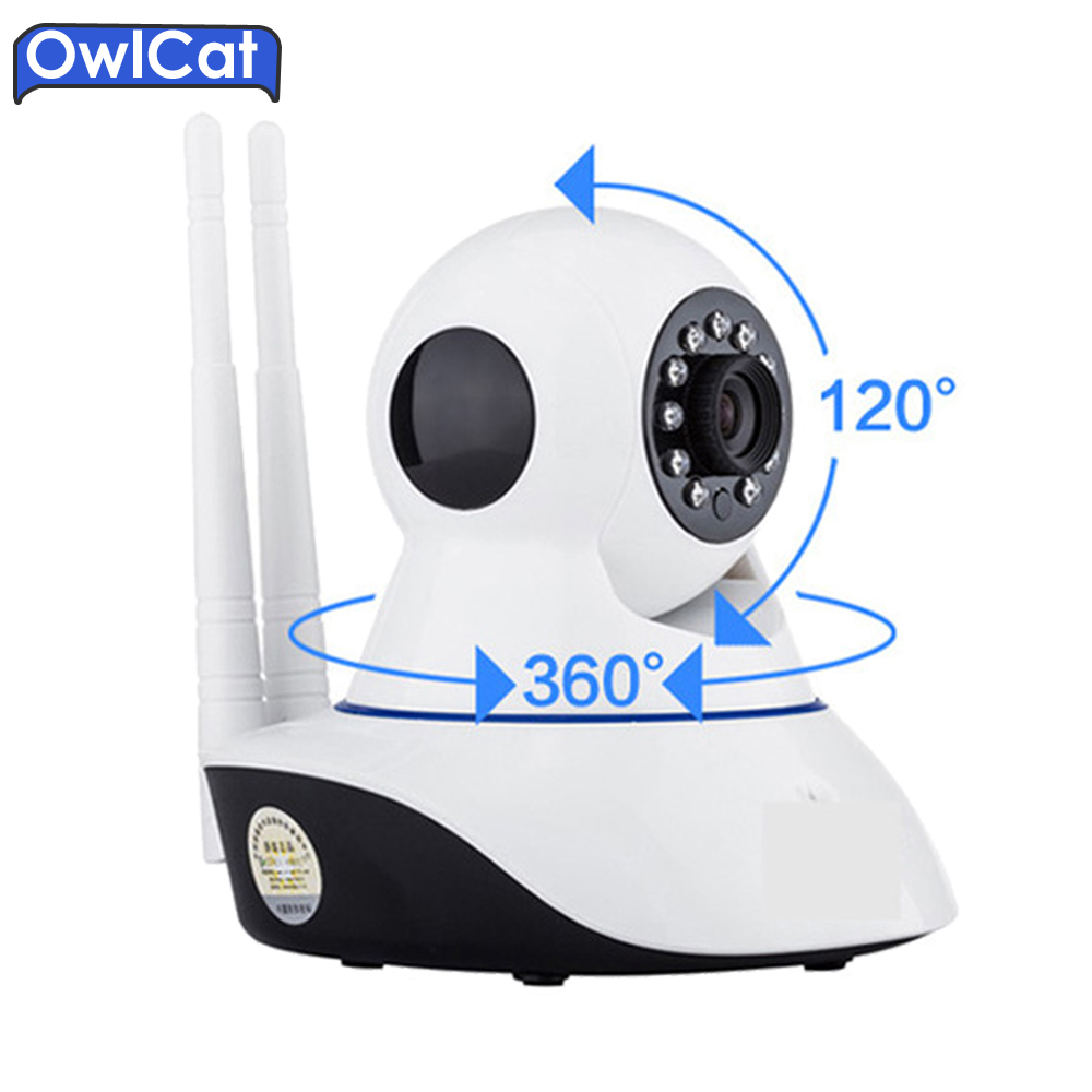 OWLCAT Home Security IP Camera Wifi HD 720P 1.0MP Two Way Audio SD Card Slot Mini Surveillance CCTV Camera Wireless Baby Monitor smart mini camera wifi support two way audio night vision sd card onvif motion detect camera with wifi for home security