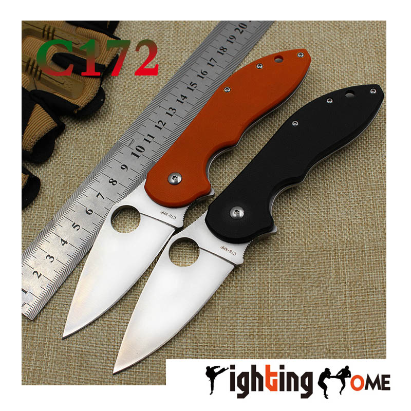 Top quali C172 font b knife b font G10 handle9Cr steel blade folding font b knife