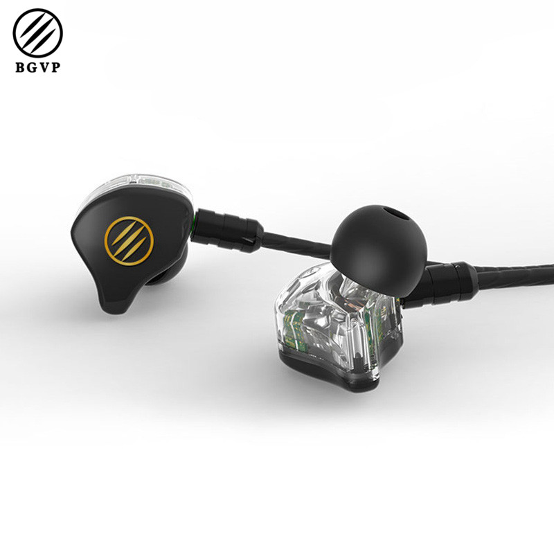 Original BGVP DS1 2BA+DD Dual Balanced Armature+1 Dynamic Driver Hybrid MMCX Audiophile IEMS HIFI Music Monitor In-ear Earphone мультиварка steba steba dd 2 xl eco