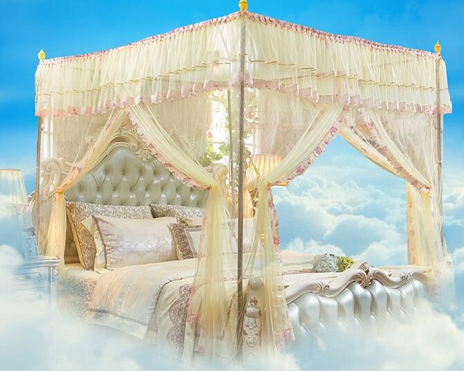 1 PC beau lit Net maille décoration de chambre filet rose violet lit baldaquin moustiquaire KR 023