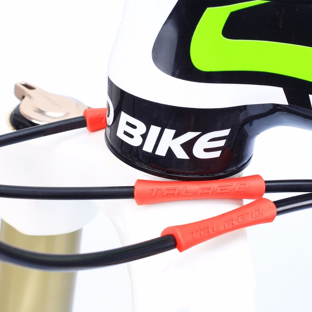 4pcs Bicycle Bike Brake Cable Housing Rubber Protector Sleeve for Gear Shift Anti-friction Bike Frame Protection Cable Guides