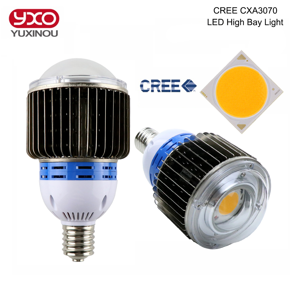 1PCS CREE CXA3070 50W 60W 100W COB LED Bulb E27 E40 Base 3000K 5000K CREE LED Light Lamp For Supermarket,Facotry,Warehouse 2pcs lot us cree cxa 3070 beads 117w high power led chip 2700 3000k 5000 6500k pure white warm white