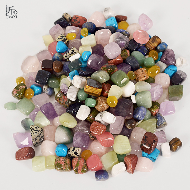 Tumbled Stones 228g Mixed Gemstone Rock and Minerals Crystal and Tumbled Stone Beads for Chakra Healing Tumbled Stones