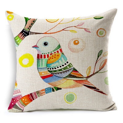 Thick Printed Linen Decorative Cushion Cover Pillow Case Square