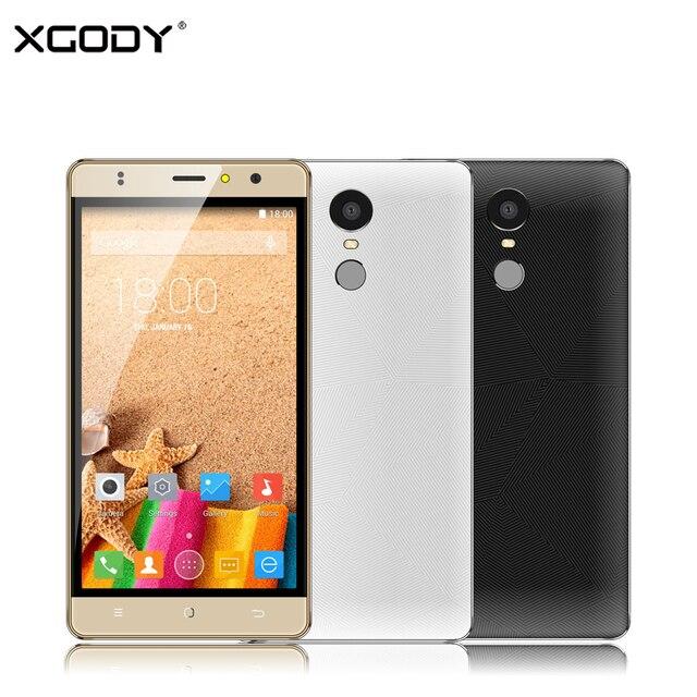 XGODY M20 5.5 Inch 3G Smartphone Android 6.0 MTK Quad Core 1+8GB 1280*720 IPS Unlocked Dual Sim Mobile Phone Fingerprint ID WiFi