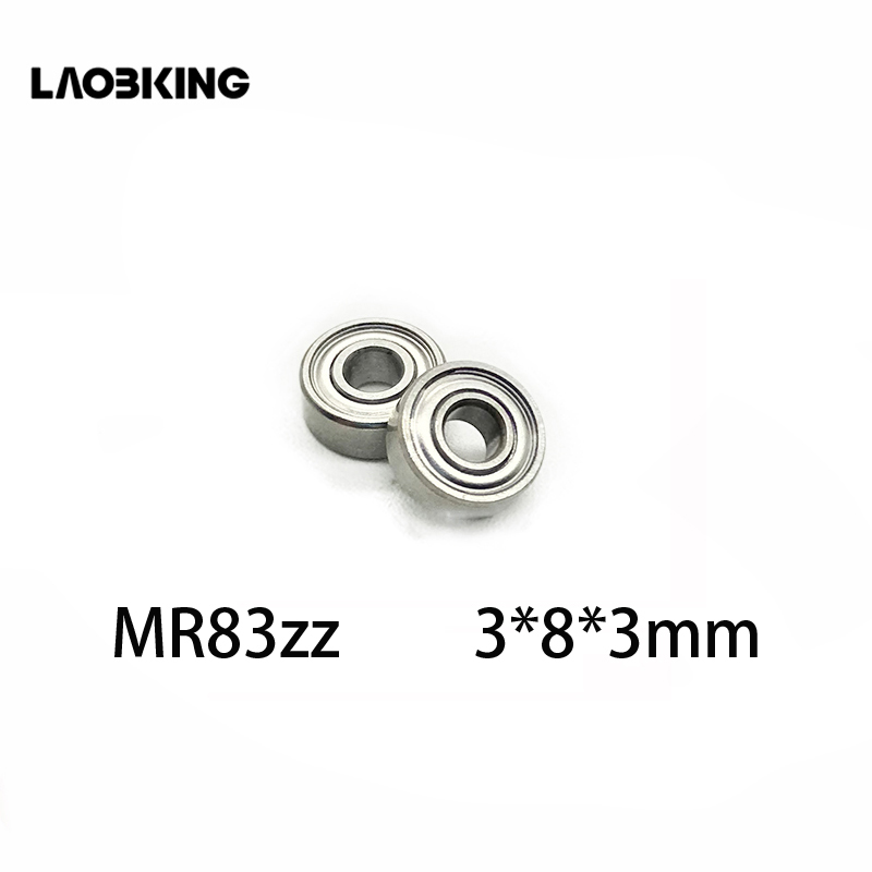 MR83ZZ Metal Double Shielded High Precision Ball Bearing 20 PCS 3x8x3 mm