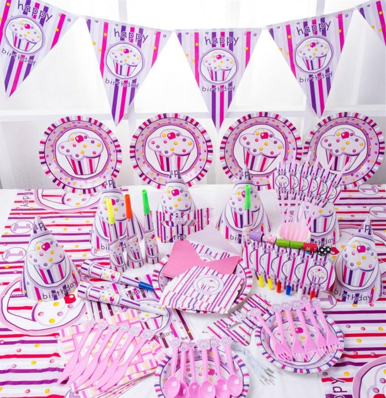 19 34 18 De Reduction 90 Pieces Rose Princesse Glace Enfants Decoration D Anniversaire Ensemble Bebe Fete D Anniversaire Paquet In Partie Bricolage