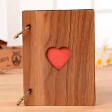 Creative 6 inch love wooden photo album Vintage handmade youth graduation  anniversary gift Case Binding