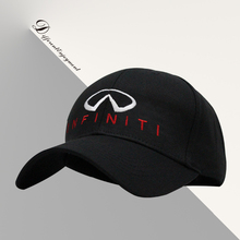 Customized car logo hat cotton washed high-grade fabric infitini racing cap Sports baseball cap