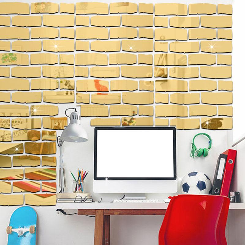 Autoadesivo della parete della carta da parati del mattone della - Home decor