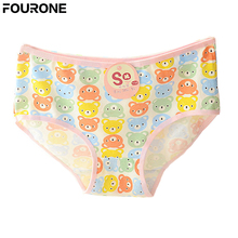 Sexy Hot Selling Cartoon Women Bear Ladys Soft Cotton Hipsters Panties Underwear Briefs Color Random