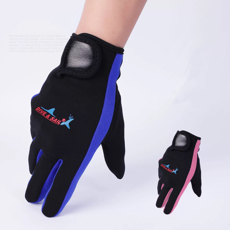 Women Men Swimming & Diving Gloves 1.5mm Neoprene Swimming Diving Gloves Anti-slip Warm Swimming Snorkel Surf Gloves Drop Ship