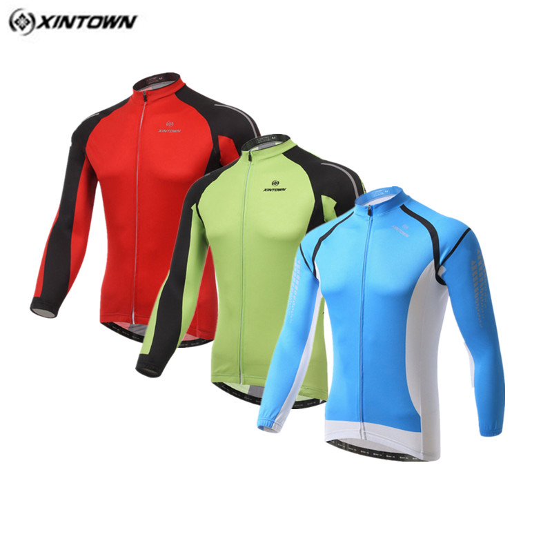 Xintown Winter Long Sleeve Bike Team Cycling Jersey Sport Racing Cycling Clothing Pro mtb Bike Jersey Jacket Bicycle Sportswear