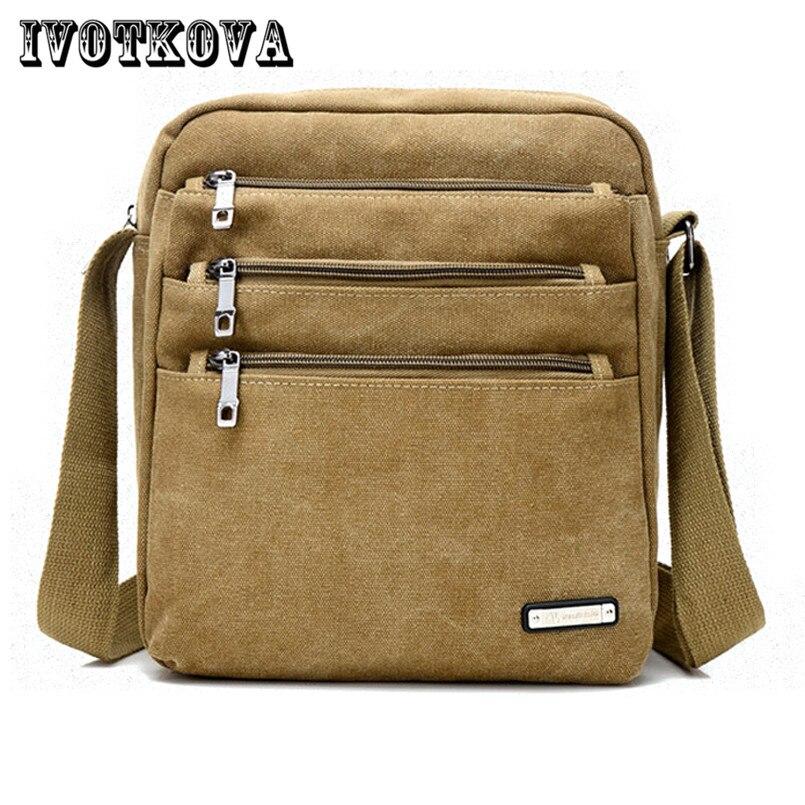 IVOTKOVA New Fashion Men Messenger Bag Casual Male Handbag Shoulder Purses High Quality Bolsas Men Crossbody Bag ivotkova men nylon bag 2017 new fashion men s shoulder